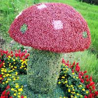 蘑菇仿真绿雕