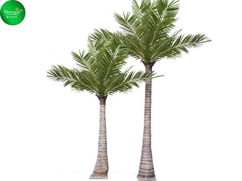 双棵仿真棕榈树