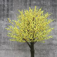 黄色仿真桃花树
