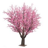 室内仿真桃花树图片