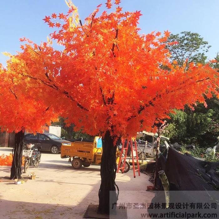仿真红枫景观树图片