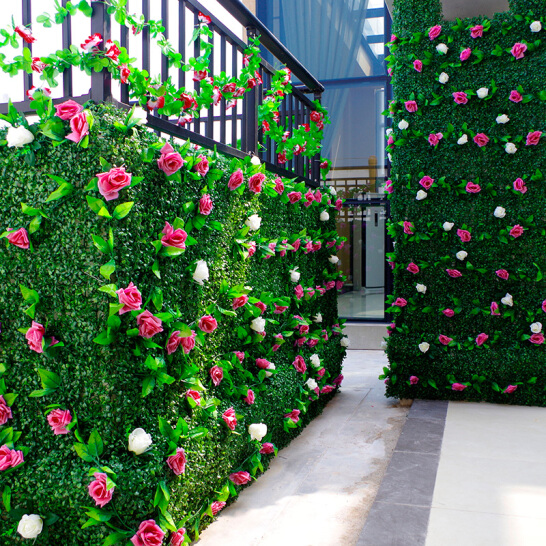 恒大棕榈岛仿真植物墙效果图