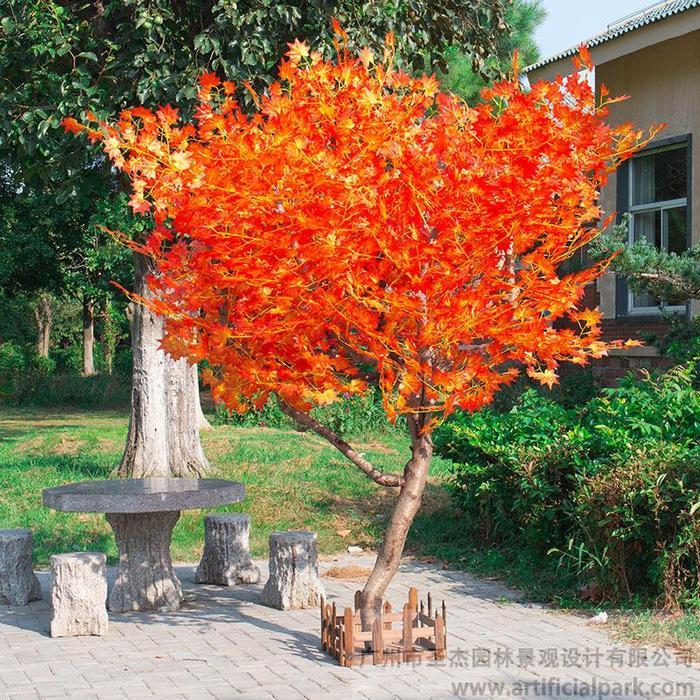 造型仿真红枫树图片