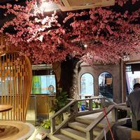 大型仿真樱花树装饰效果图