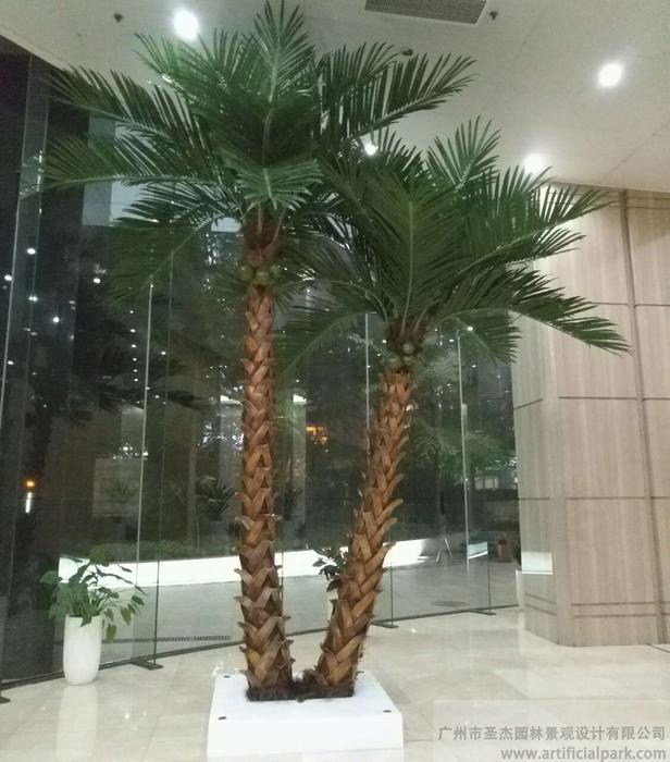 仿真棕榈树,棕椰树组合图片