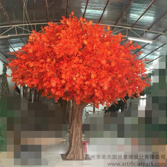 仿真红枫树,人造红枫树图片