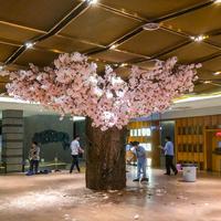 包柱子仿真树制作,仿真樱花树