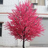 防腐木杆桃花树