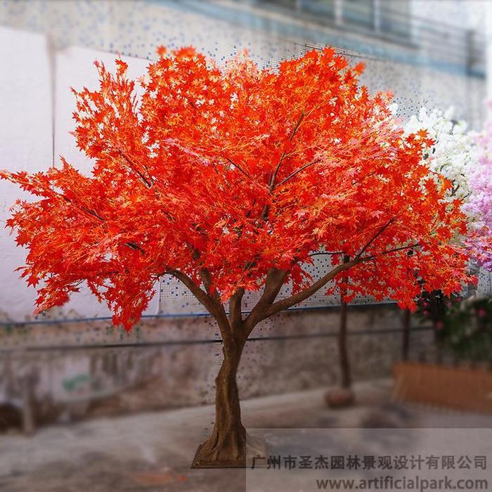 仿真红枫树叶图片