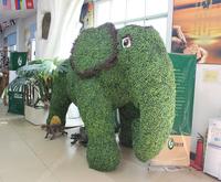 仿真动物绿雕_大象