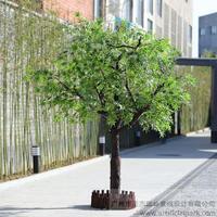 室外仿真绿枫树