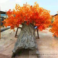 仿真红枫树,仿真包柱树