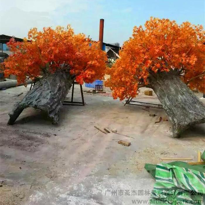 仿真红枫树,仿真包柱树图片