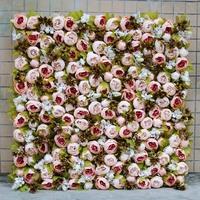室内仿真花墙,玫瑰花墙
