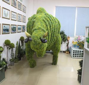 仿真动物绿雕牛
