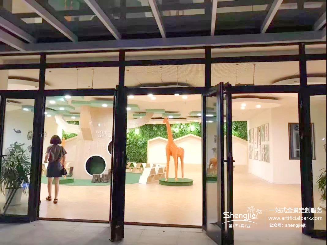 圣杰园林仿真植物墙案例分享丨万科嘉园神龙幼儿园