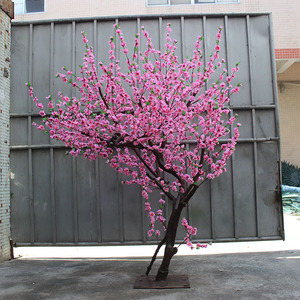 造型桃花树