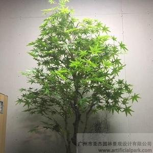 仿真绿枫树盆景