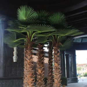 东莞凤岗卧龙山室内仿真棕榈树