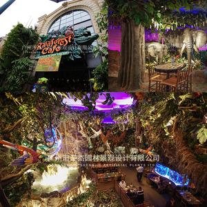 美国拉维斯拉斯仿真植物打造热带雨林景观