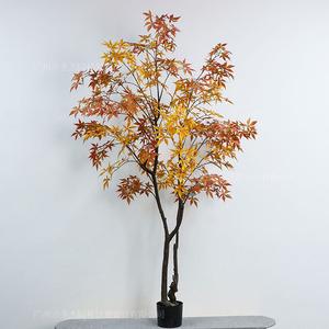 仿真黄枫叶树