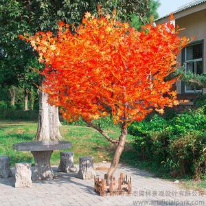 造型仿真红枫树