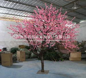木杆仿真桃花树