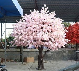 粉色仿真樱花小树