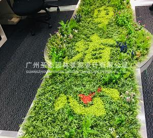 """广州""""粤省心""""仿真植物墙招牌打造"""