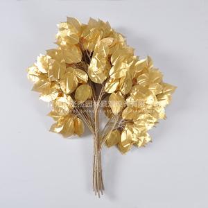 金色仿真榕叶