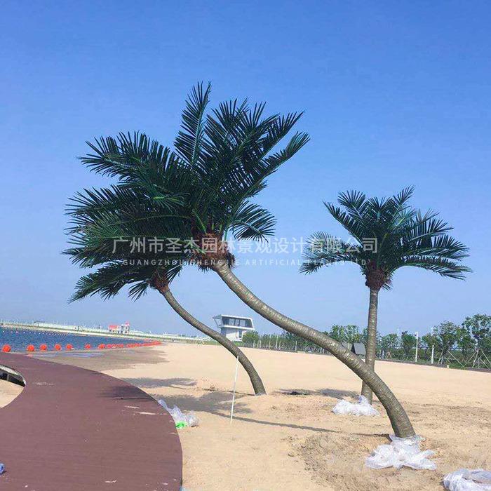 宁波万人沙滩圣杰仿真椰子树造景