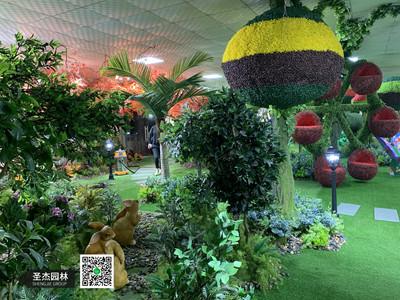 仿真绿雕展厅,仿真植物展厅