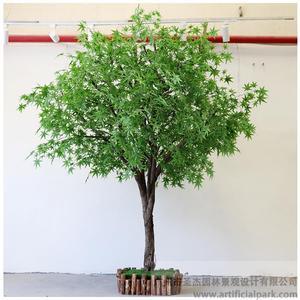 室内仿真绿枫树